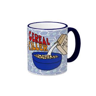 Cereal Killer Coffee Mug, Angry Milk Carton Ringer Mug