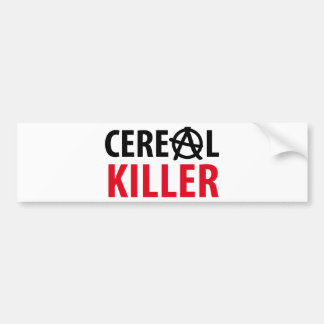 cereal killer icon bumper sticker