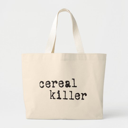 Cereal Killer Shirts & Gifts Large Tote Bag