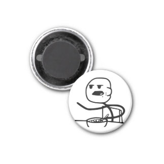 Cereal Meme Guy 1 Inch Round Magnet