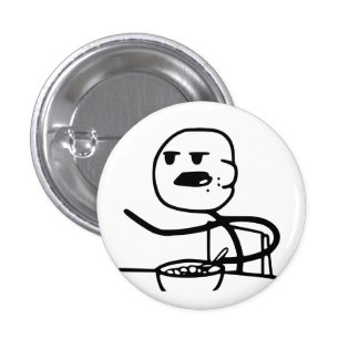 Cereal Meme Guy 1 Inch Round Button