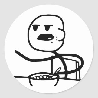 Cereal Meme Guy Classic Round Sticker