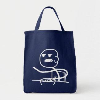 Cereal Meme Guy Grocery Tote Bag