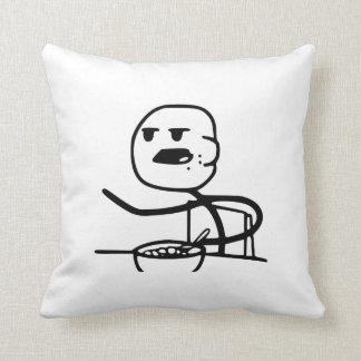 Cereal Meme Guy Throw Pillow