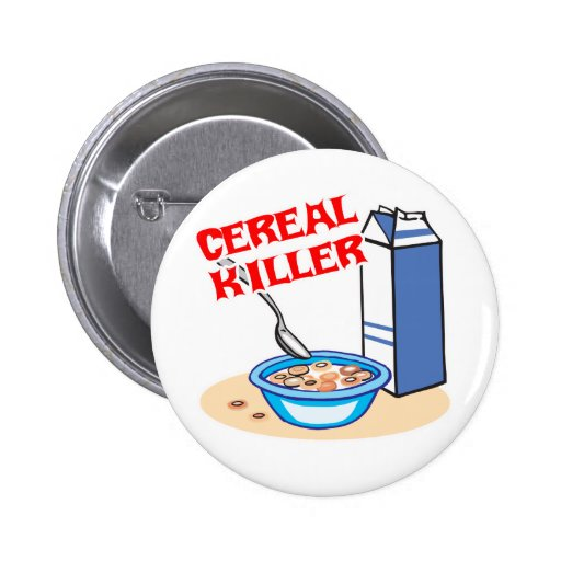 cereal serial killer 2 inch round button