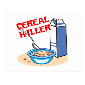cereal serial killer postcard