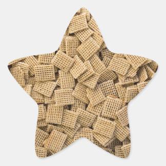 Cereales enteros del grano pegatina en forma de estrella
