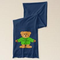Cerebral Awareness Teddy Bear Scarf