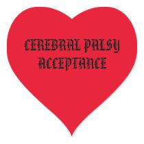 Cerebral Palsy Acceptance Heart Sticker