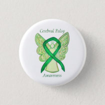 Cerebral Palsy Awareness Angel Ribbon Art Pin