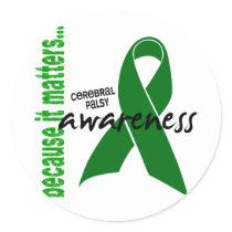 Cerebral Palsy Awareness Classic Round Sticker