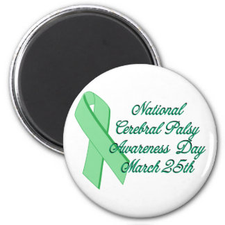 Cerebral Palsy Awareness Day 2 Inch Round Magnet