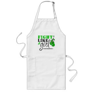 Cerebral Palsy Awareness Fight Like a Girl Long Apron