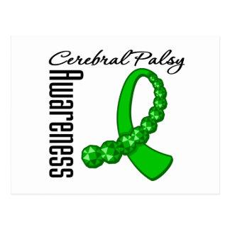 Cerebral Palsy Awareness Gemstone Ribbon Postcard