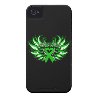 Cerebral Palsy Awareness Heart Wings iPhone 4 Case-Mate Case