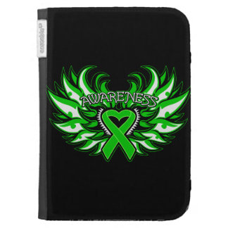 Cerebral Palsy Awareness Heart Wings Kindle Folio Case