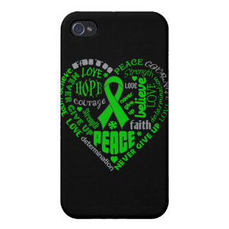Cerebral Palsy Awareness Heart Words iPhone 4/4S Covers