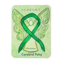 Cerebral Palsy Awareness Ribbon Angel Magnet Gifts