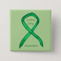Cerebral Palsy Awareness Ribbon Custom Art Pin