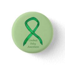 Cerebral Palsy Awareness Ribbon Custom Art Pin