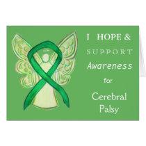 Cerebral Palsy Awareness Ribbon Greeting Card