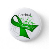 Cerebral Palsy Awareness Ribbon Pinback Button