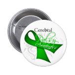 Cerebral Palsy Awareness Ribbon Pins