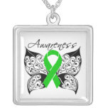 Cerebral Palsy Awareness Tattoo Butterfly Necklace