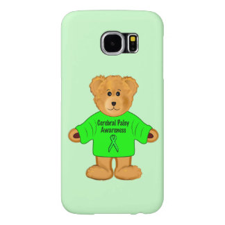 Cerebral Palsy Awareness: Teddy Bear in Sweater Samsung Galaxy S6 Cases