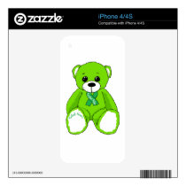 Cerebral Palsy Awareness Teddy Bear Products Decal For The iPhone 4