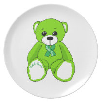 Cerebral Palsy Awareness Teddy Bear Products Dinner Plate