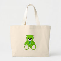 Cerebral Palsy Awareness Teddy Bear Products Large Tote Bag