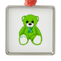 Cerebral Palsy Awareness Teddy Bear Products Metal Ornament
