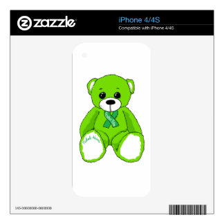 Cerebral Palsy Awareness Teddy Bear Products Skins For The iPhone 4S