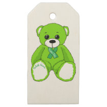 Cerebral Palsy Awareness Teddy Bear Products Wooden Gift Tags