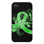 Cerebral Palsy Believe Flourish Ribbon Covers For iPhone 4
