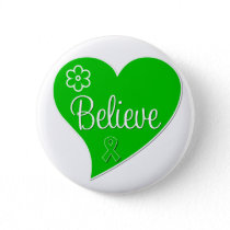 Cerebral Palsy Believe Heart Pinback Button