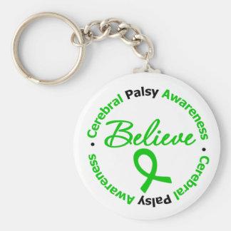 Cerebral Palsy Believe Inspirational Key Chain
