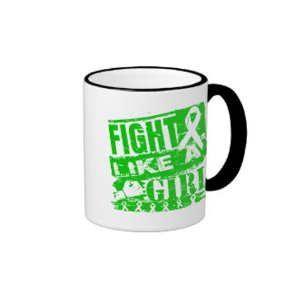 Cerebral Palsy BurnOut Fight Like a Girl Ringer Coffee Mug