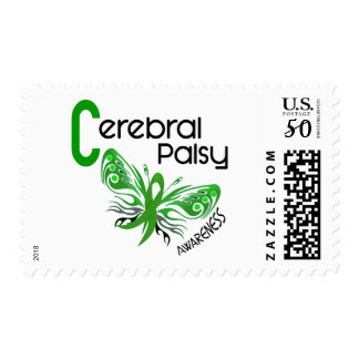 Cerebral Palsy BUTTERFLY 3 Awareness Postage