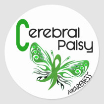 Cerebral Palsy BUTTERFLY 3 Classic Round Sticker