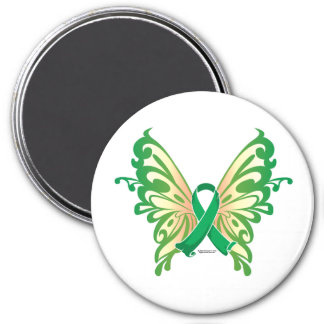 Cerebral Palsy Butterfly 3 Inch Round Magnet