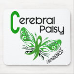 Cerebral Palsy BUTTERFLY 3 Mouse Mats