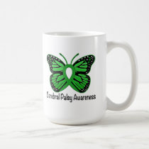 Cerebral Palsy Butterfly Awareness Ribbon Coffee Mug