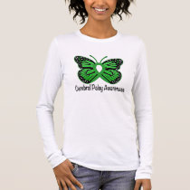 Cerebral Palsy Butterfly Awareness Ribbon Long Sleeve T-Shirt