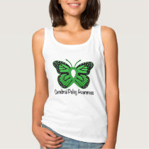 Cerebral Palsy Butterfly Awareness Ribbon Tank Top