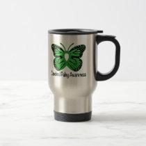 Cerebral Palsy Butterfly Awareness Ribbon Travel Mug