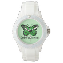 Cerebral Palsy Butterfly Awareness Ribbon Watch
