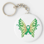 Cerebral Palsy Butterfly Basic Round Button Keychain