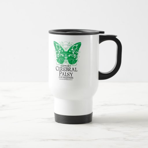 Cerebral Palsy Butterfly 15 Oz Stainless Steel Travel Mug